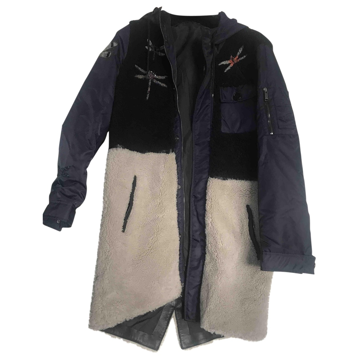 Valentino Garavani - Manteau   pour homme en fourrure - multicolore