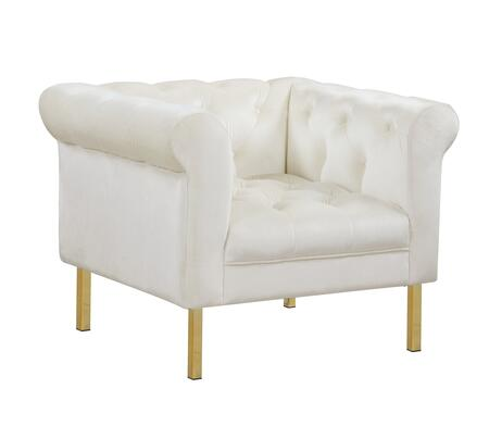 Noah Collection FCC9213-AC Club Chair with High Shelter Rolled Arms  Gold Tone Solid Metal Legs  Plush Multi Density Foam Filled Cushion and Velvet
