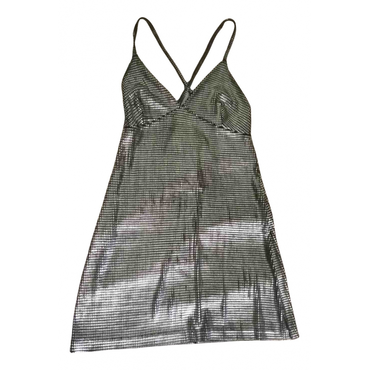 Paco Rabanne N Silver Glitter dress for Women 38 FR