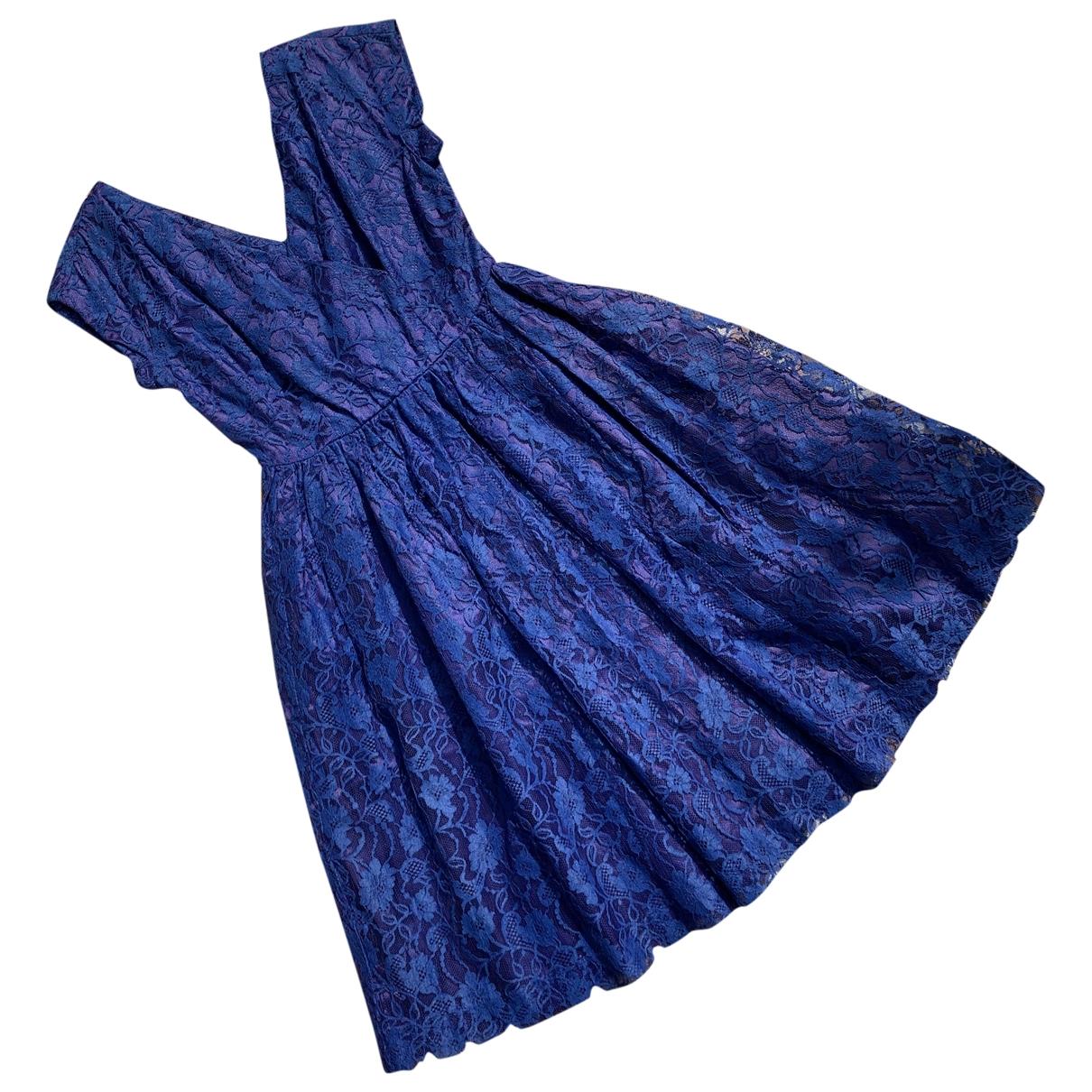 - Robe   pour femme en dentelle - bleu