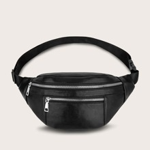 Minimalist Double Zipper Fanny Pack