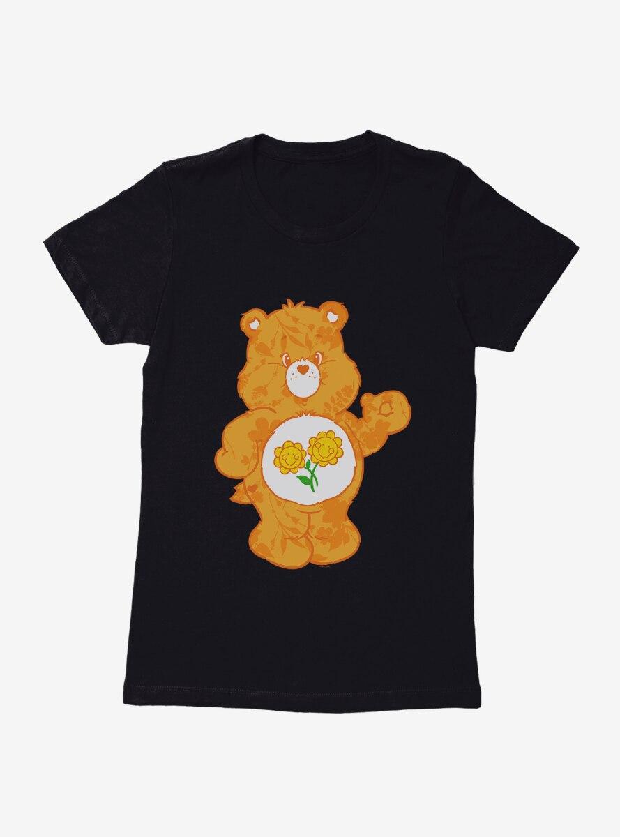 Care Bears Friend Bear Floral Womens T-Shirt