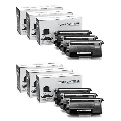 Compatible Brother TN880 Black Toner Cartridge by Moustache, Extra High Yield - 6 Pack
