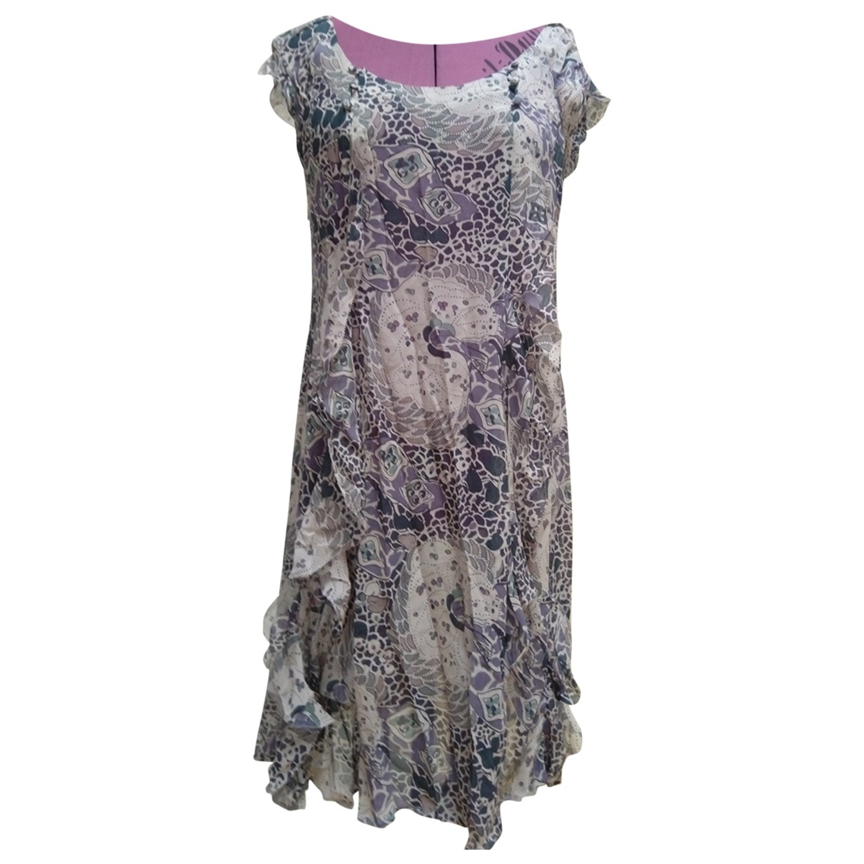 Comptoir Des Cotonniers \N Purple Silk dress for Women 40 FR