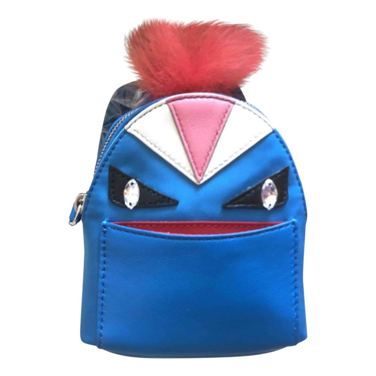 Fendi - Bijoux de sac Sac a Dos pour femme en toile - bleu