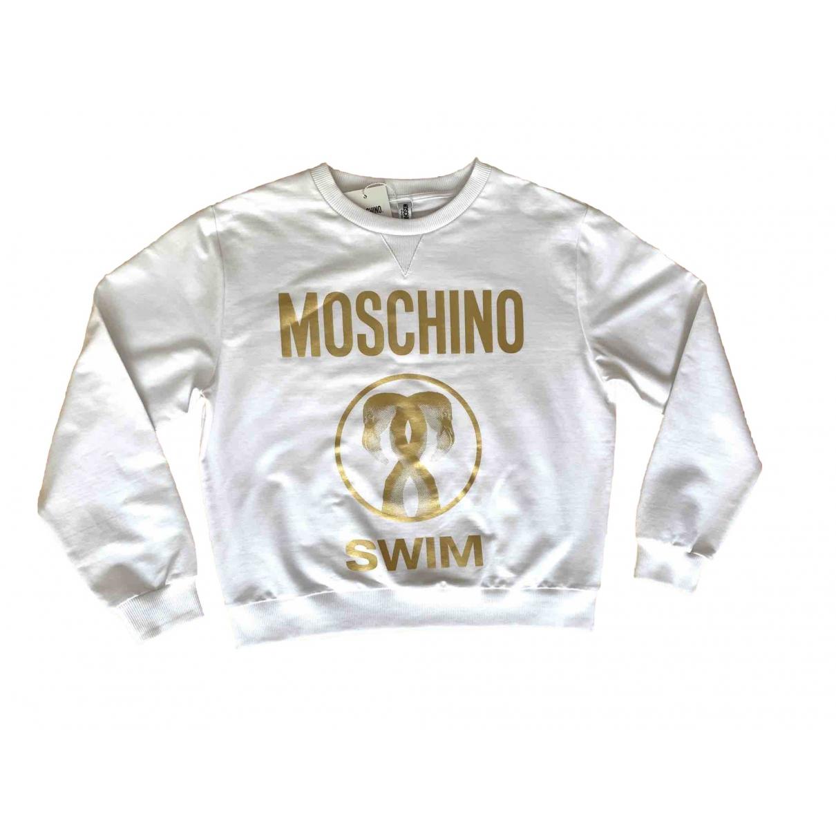 Moschino - Pull   pour femme en coton - blanc