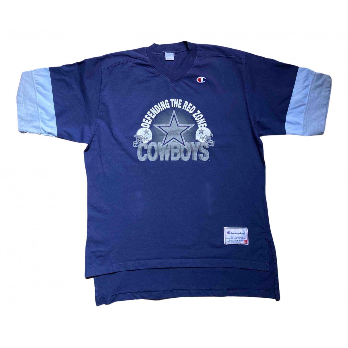 Champion - Tee shirts   pour homme en coton - bleu