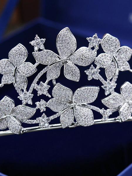 Milanoo Wedding Headpiece Headwear Crown Accessory Diamond Hair Accessories For Bride