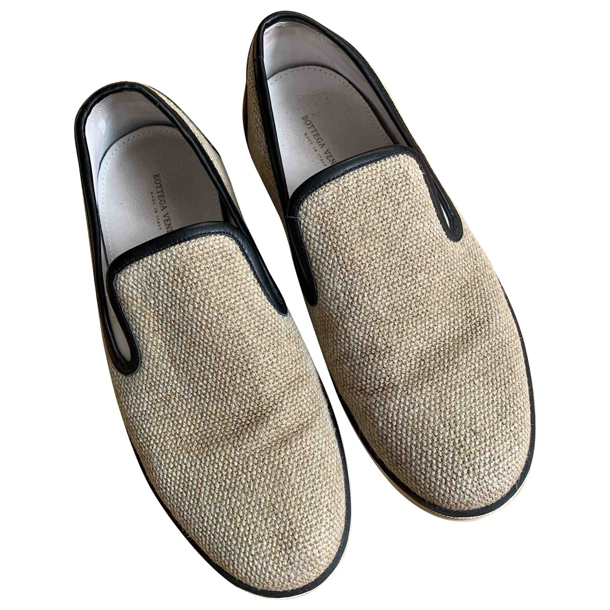 Bottega Veneta \N Beige Cloth Flats for Men 42 EU