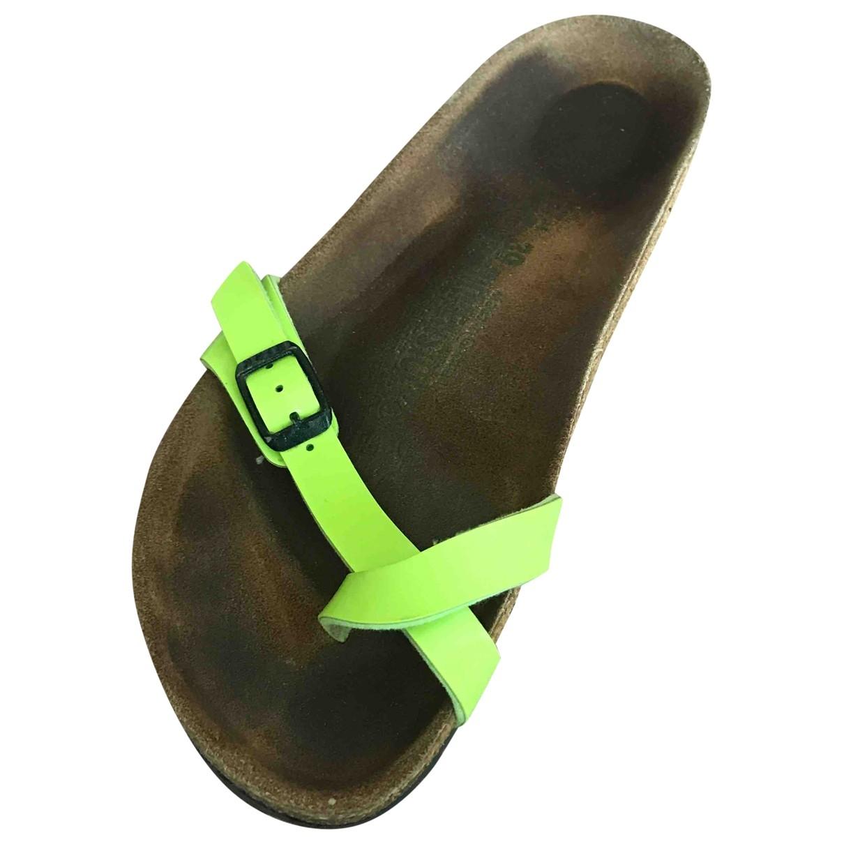 Birkenstock \N Sandalen in  Gruen Leder