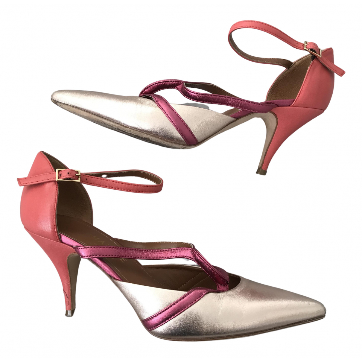 Malone Souliers \N Pink Leather Heels for Women 38 IT