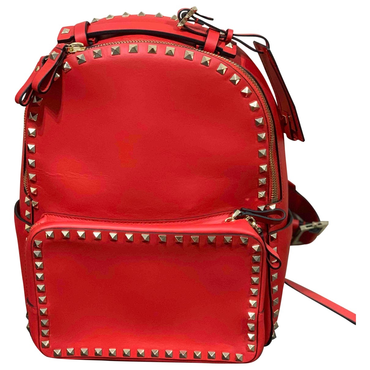 Valentino Garavani Rockstud Rucksaecke in  Rot Leder