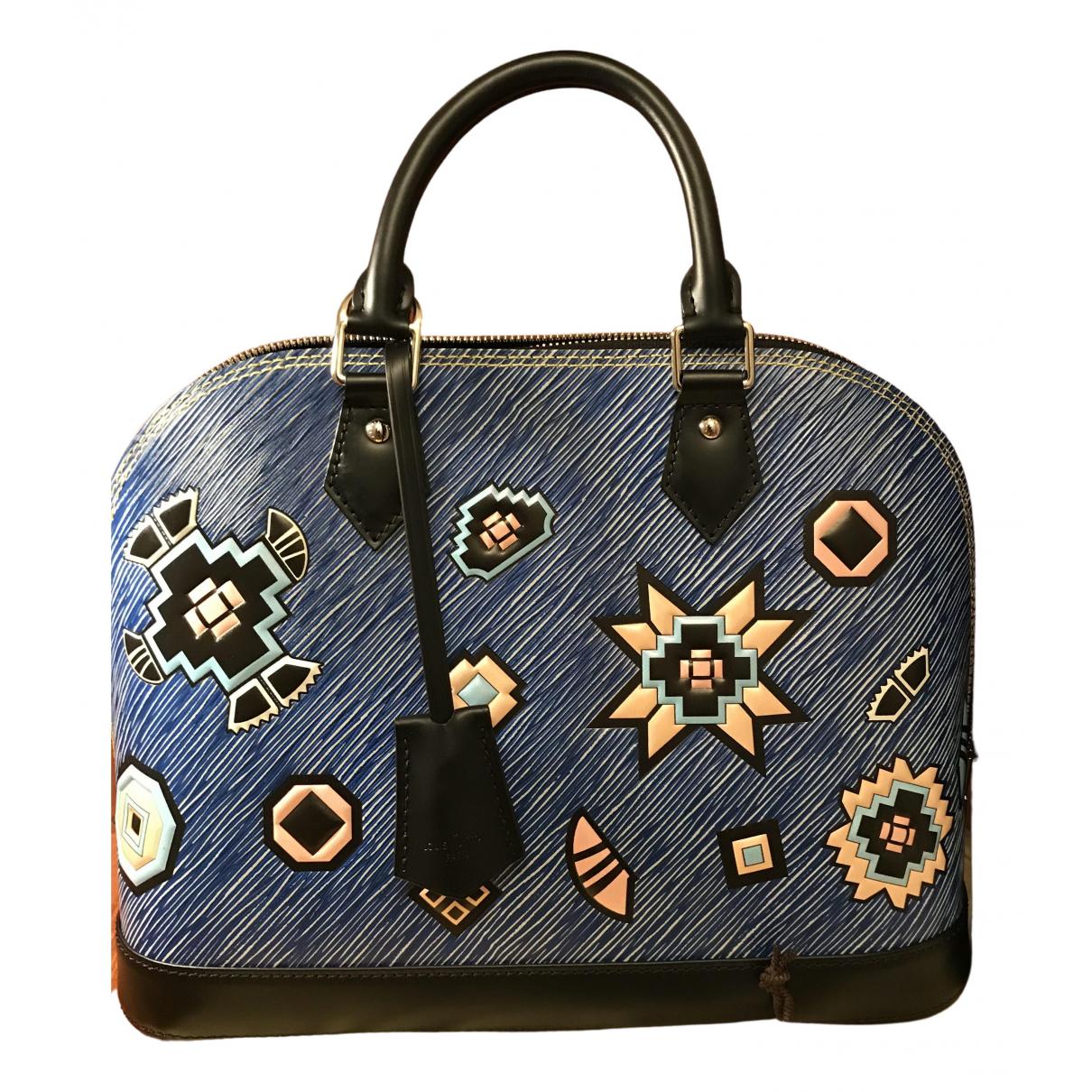 Louis Vuitton Alma Handtasche in  Blau Leder
