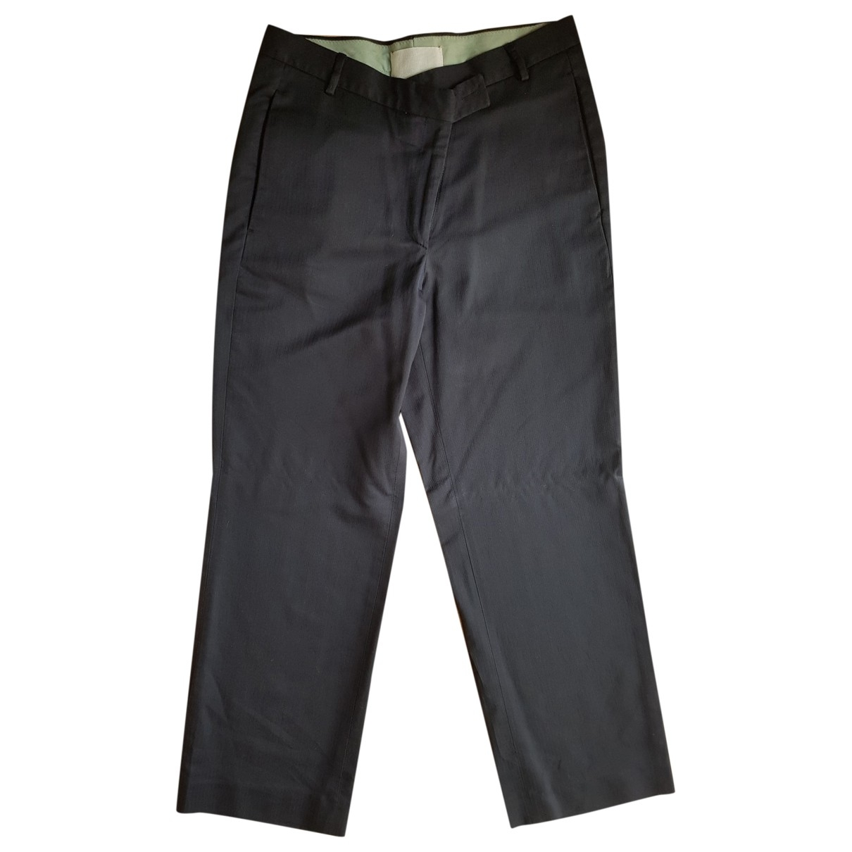Maison Martin Margiela \N Black Cotton Trousers for Women 40 IT
