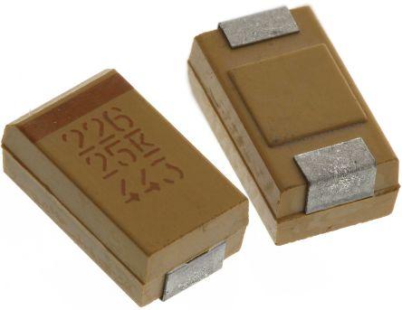 KEMET Tantalum Capacitor 22μF 25V dc MnO2 Solid ±10% Tolerance , T491 (10)