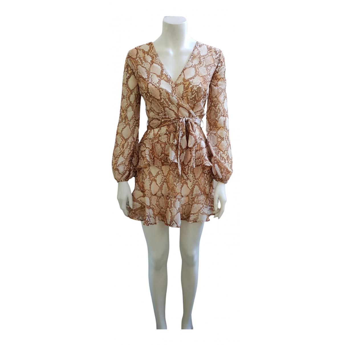 Non Signe / Unsigned \N Kleid in  Kamel Polyester