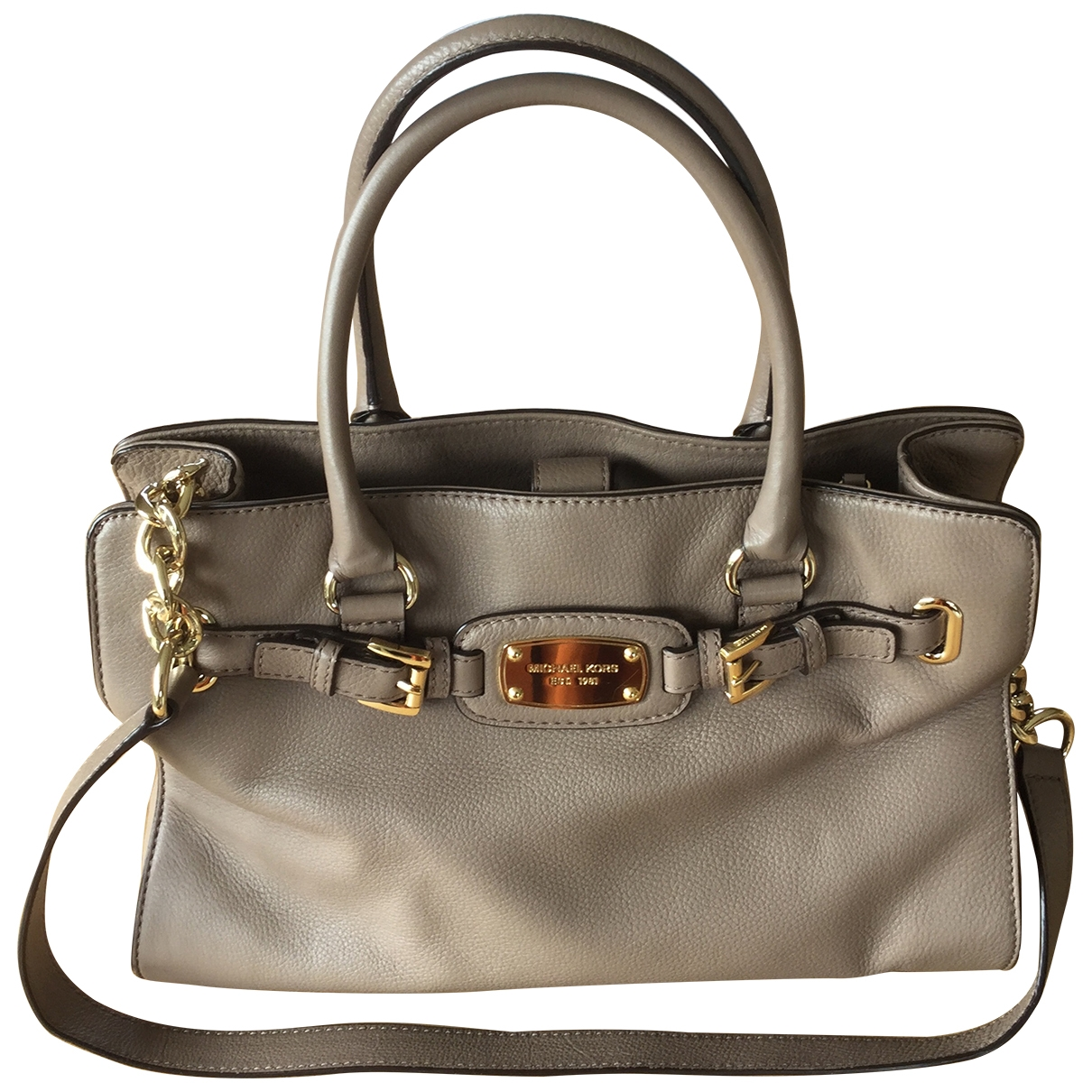 Michael Kors Hamilton Beige Leather handbag for Women \N