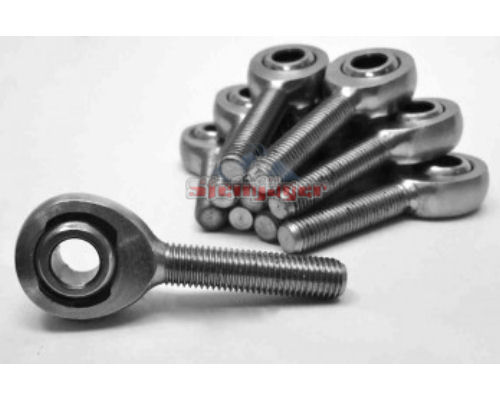Steinjager J0030193 10 Pack MXML-10-8 Spherical Rod Ends Bearing Male 0.625-18 LH x 0.5 Ball ID Slotted Nylon Bearing Race Bright Chrome Plated Finish