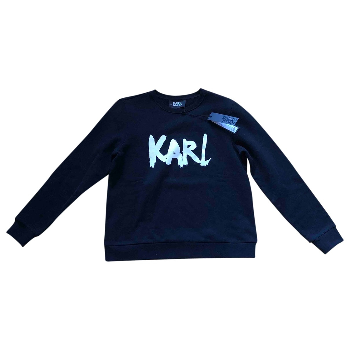 Karl Lagerfeld \N Black Cotton Knitwear for Women L International