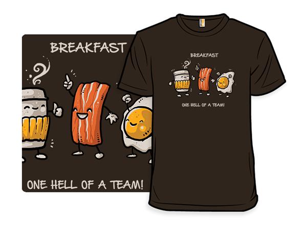 Breakfast Teamwork T Shirt