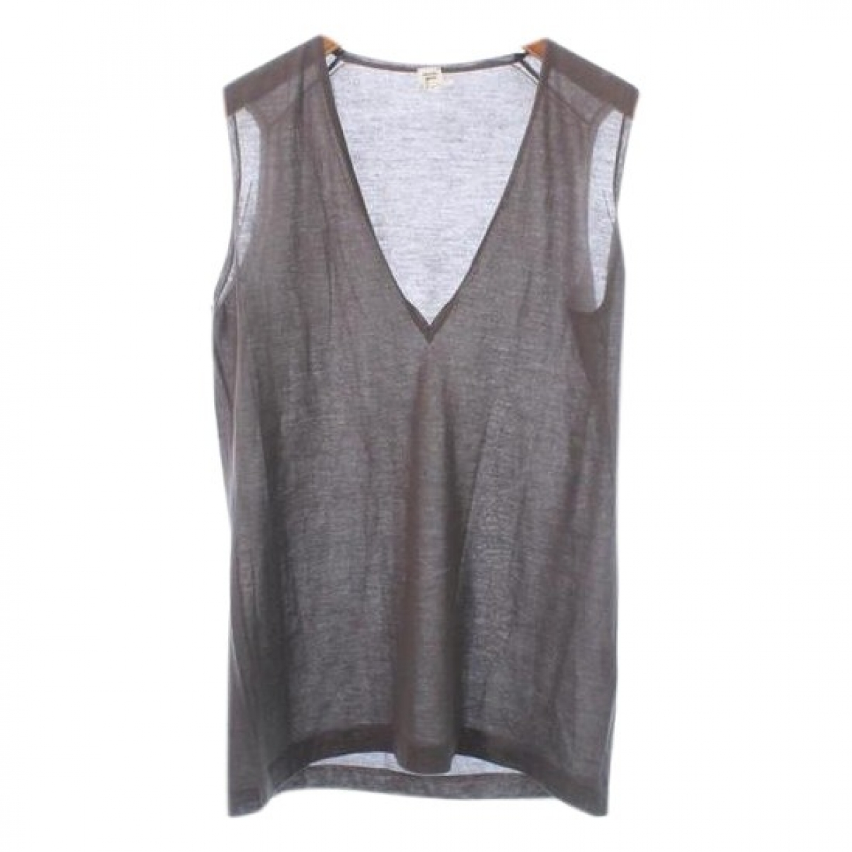Hermès \N Brown Cashmere  top for Women 42 FR