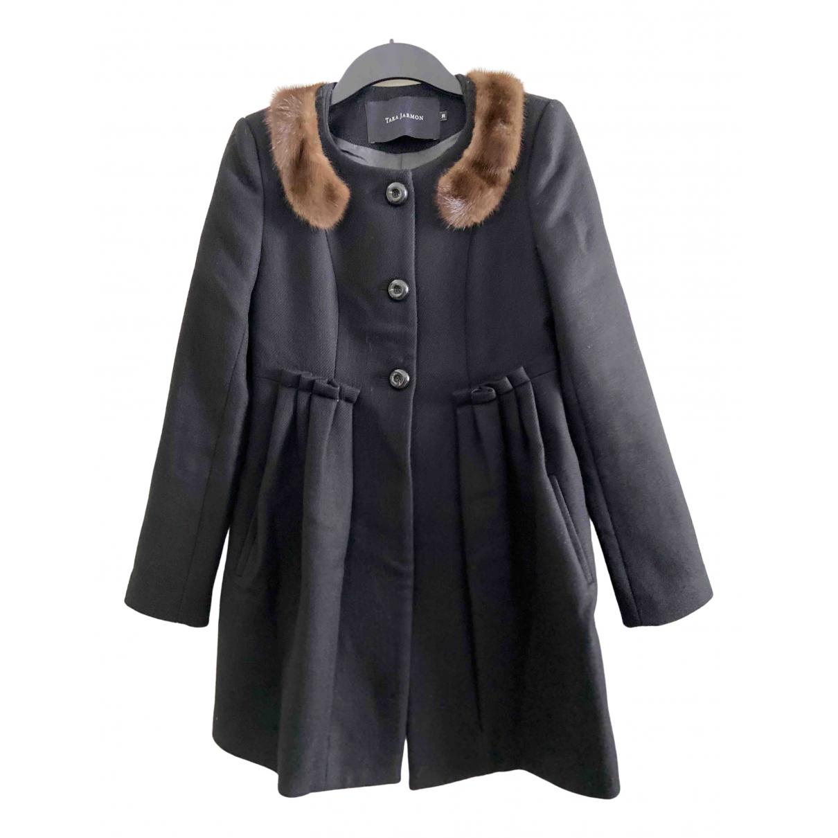 Tara Jarmon - Manteau   pour femme en laine - noir