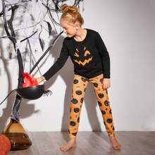 Schlafanzug Set mit Halloween Muster