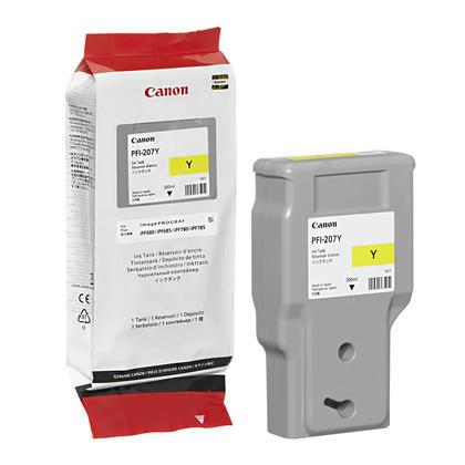 Canon PFI-207Y cartouche d'encre originale jaune