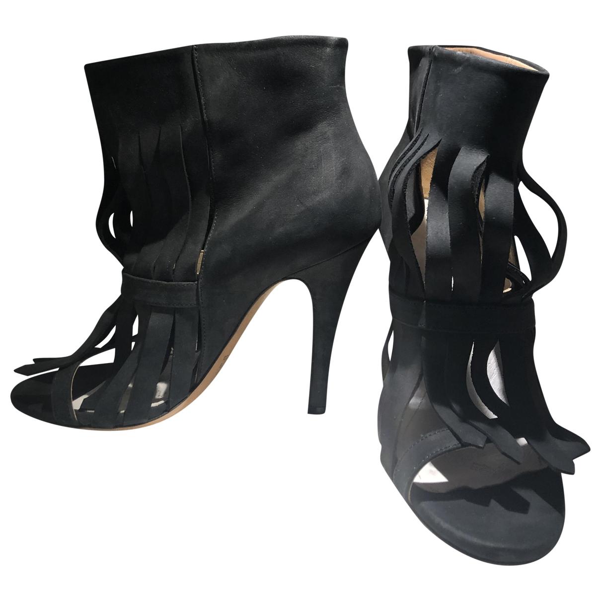 Maison Martin Margiela - Boots   pour femme en suede - noir