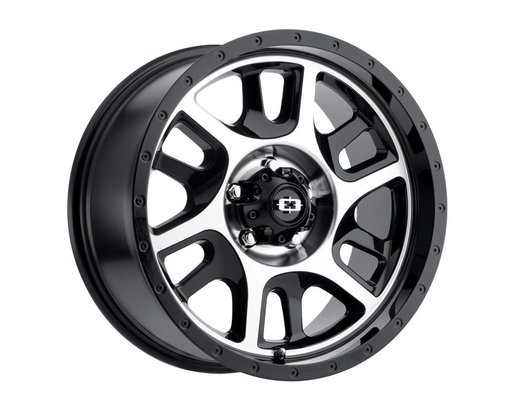 Vision Split Gloss Black Machined Face Wheel 20x10 8x170 -25