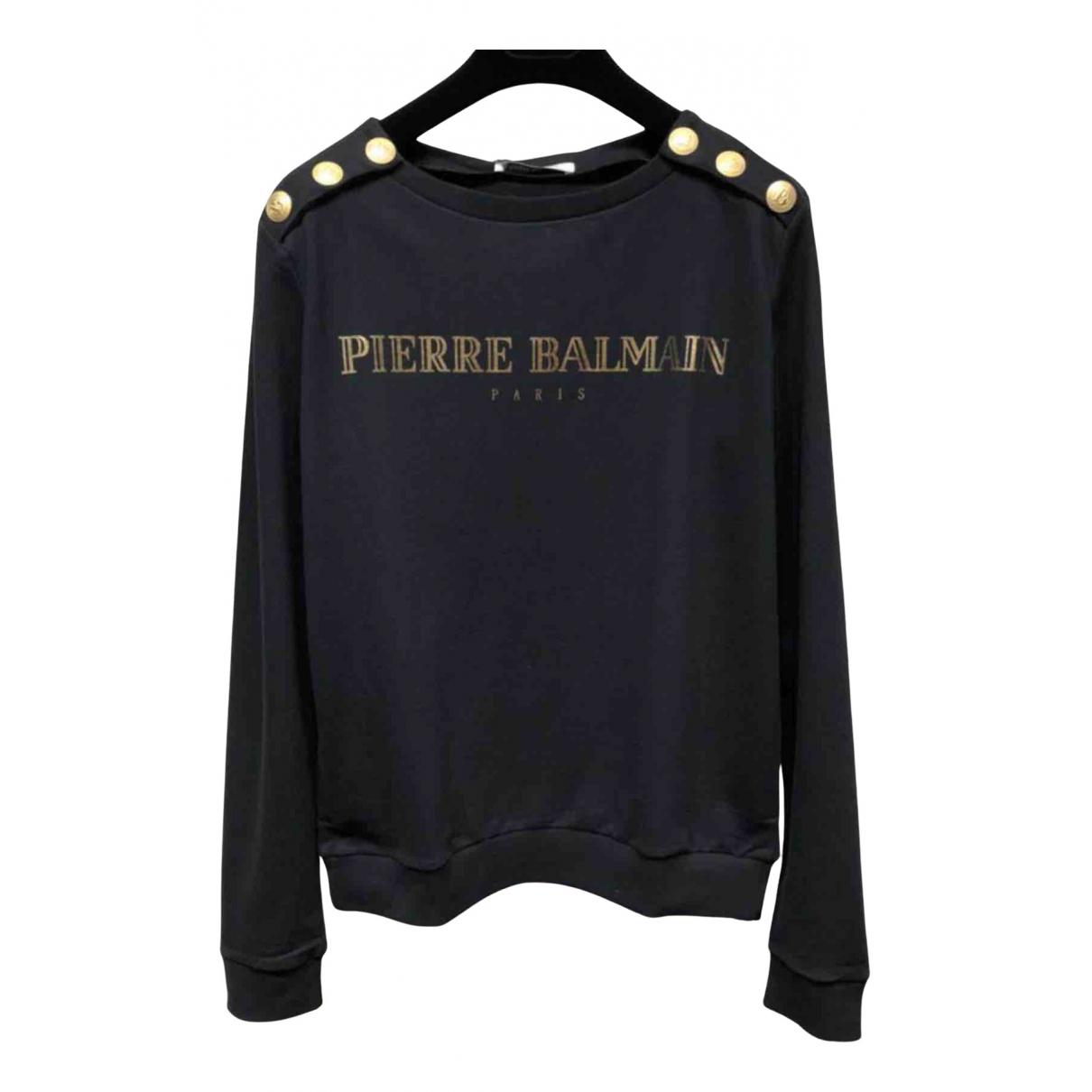 Pierre Balmain - Pull   pour femme en coton - noir