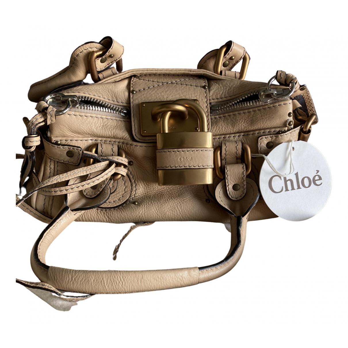 Chloé Paddington Ecru Leather handbag for Women N