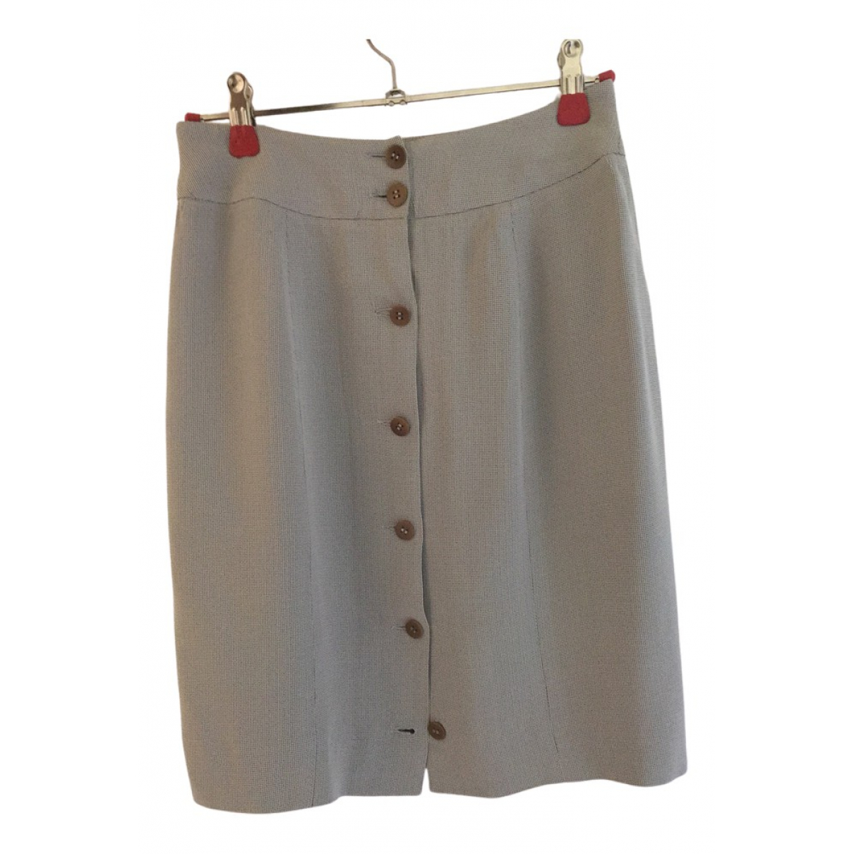 Giorgio Armani N Grey Silk skirt for Women 38 IT