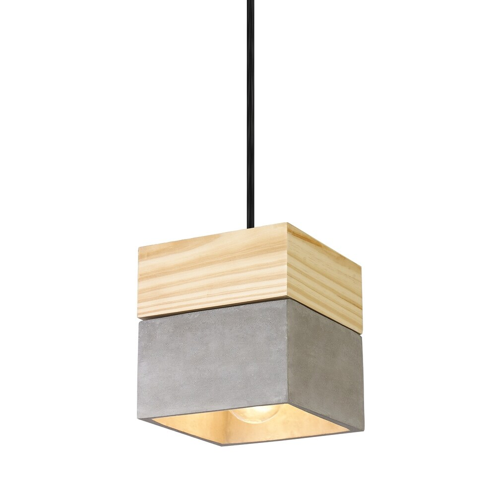 Matteo  C53203CR One Light Pendant Industrial Collection Concrete - One Size (One Size - Clear)