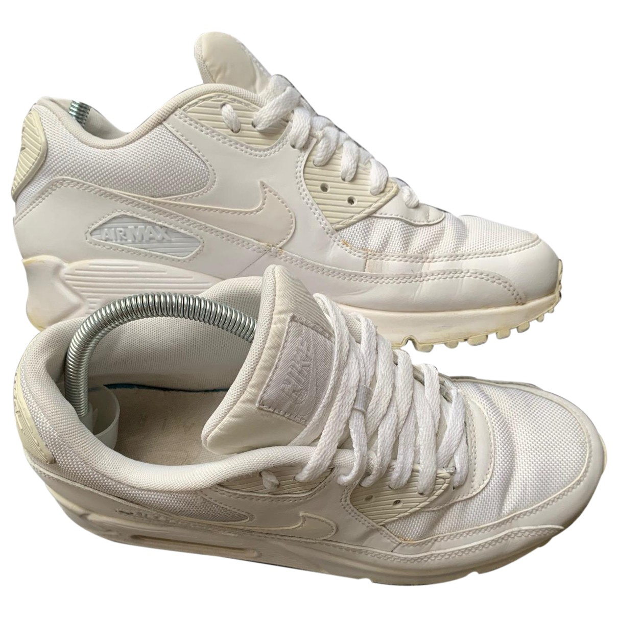 Nike Air Max 90 Sneakers in  Weiss Leinen