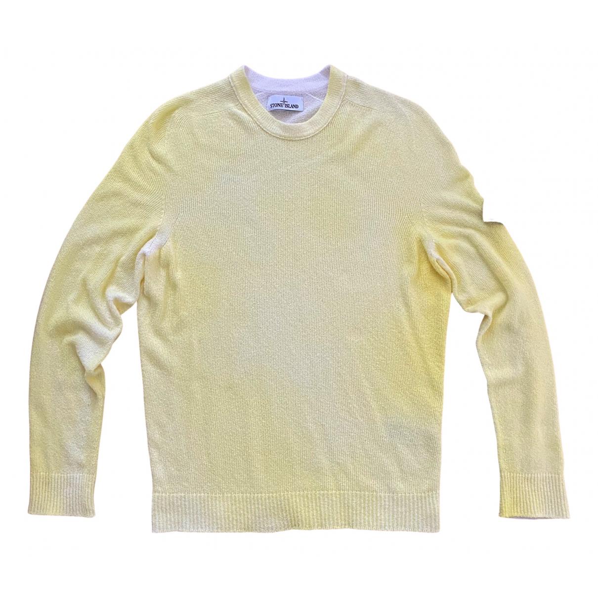 Stone Island \N Pullover.Westen.Sweatshirts  in  Gelb Baumwolle