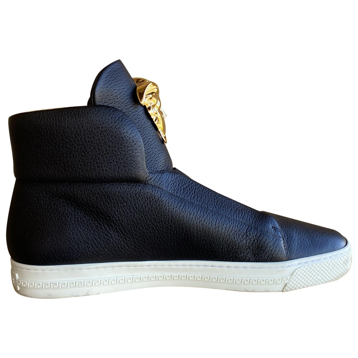 Versace N Black Leather Trainers for Men 43 EU