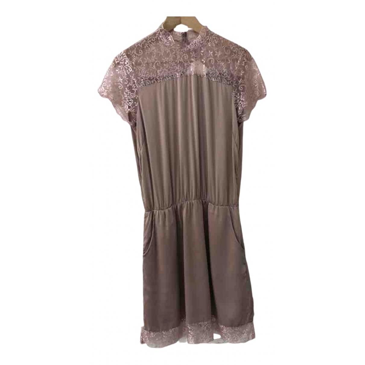 Gestuz N Pink Silk dress for Women 36 FR