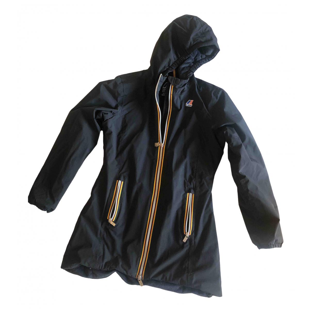 K-way - Blousons.Manteaux   pour enfant en fourrure synthetique - noir