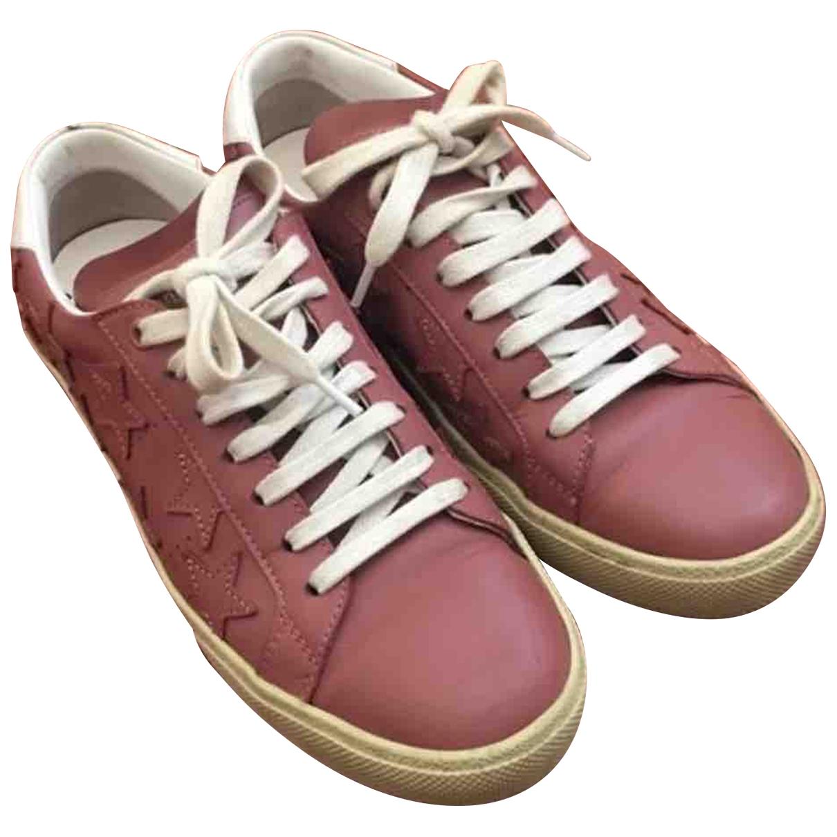 Saint Laurent Court Pink Leather Trainers for Women 38.5 EU