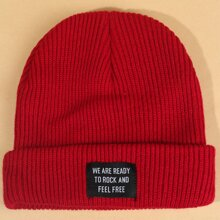 Slogan Patch Beanie