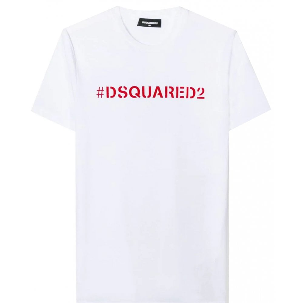 Dsquared2 Hashtag T-shirt Colour: WHITE, Size: 12 YEARS