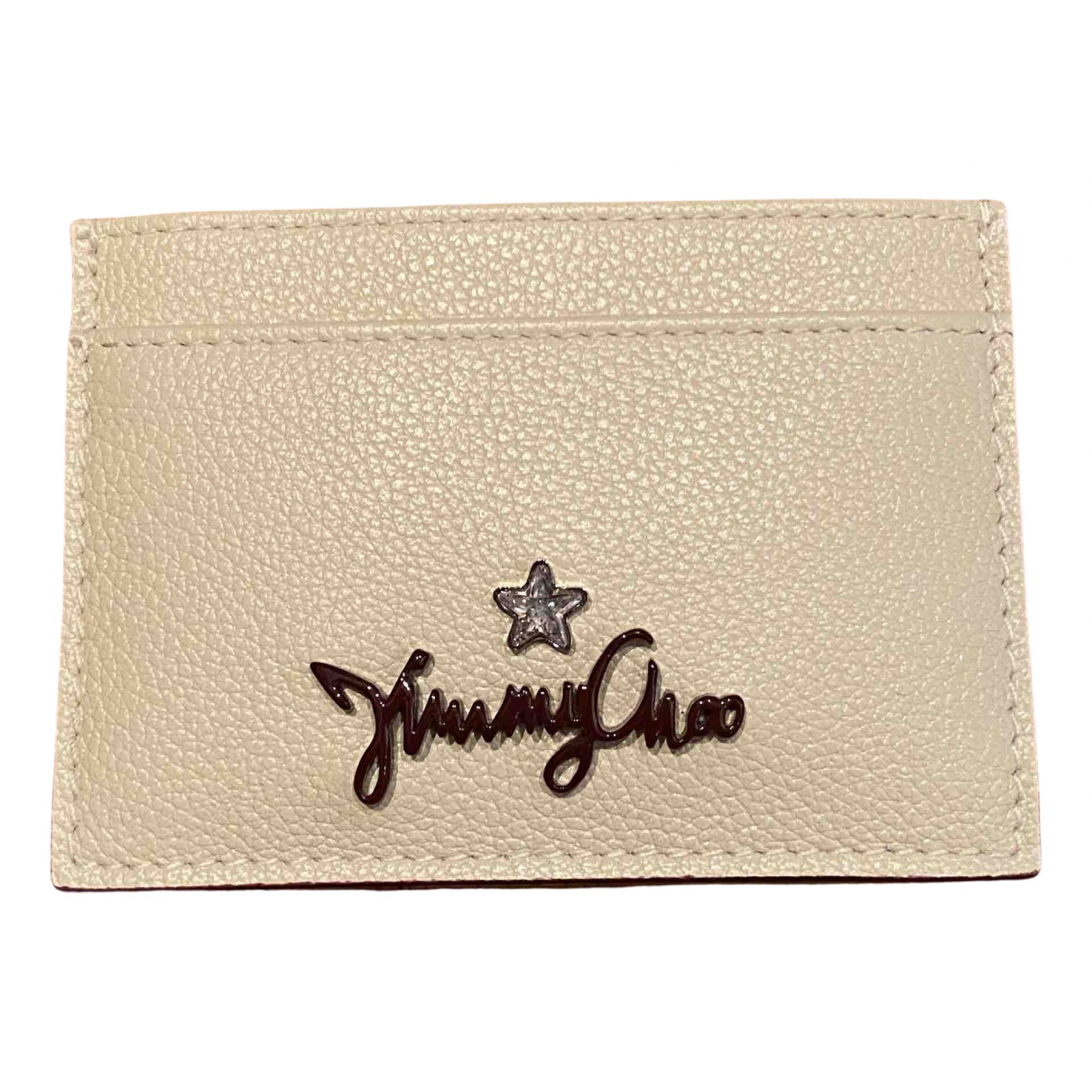 Jimmy Choo N Ecru Leather Purses, wallet & cases for Women N