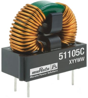 Murata Power Solutions Murata 5 mH Leaded Inductor, 1.2A Idc, 197mΩ Rdc, 5100