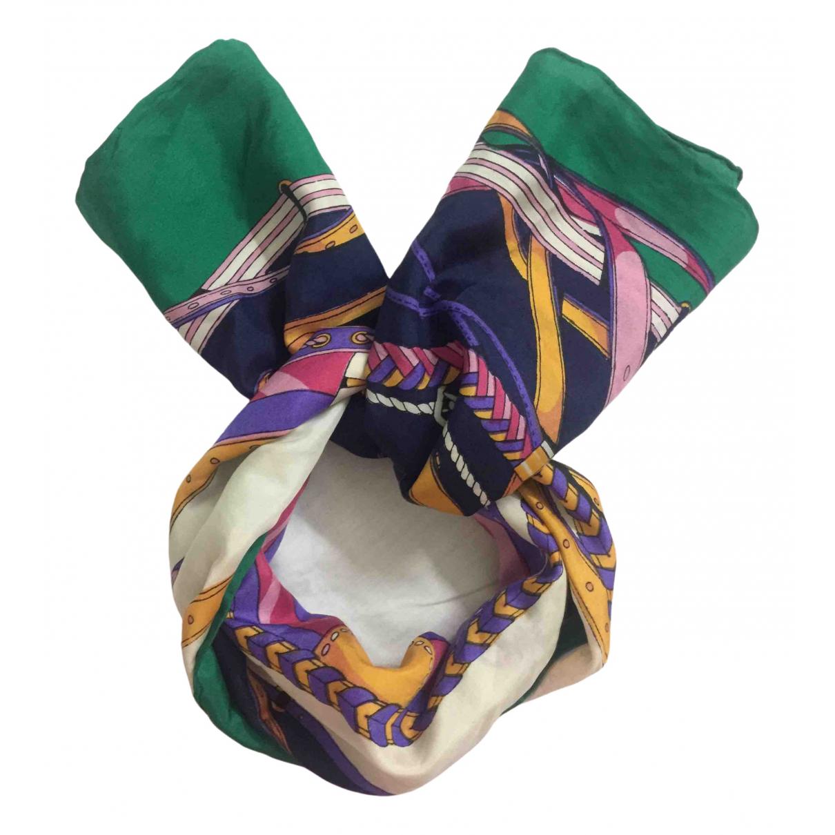 Carlo Tivioli - Foulard   pour femme en soie - multicolore