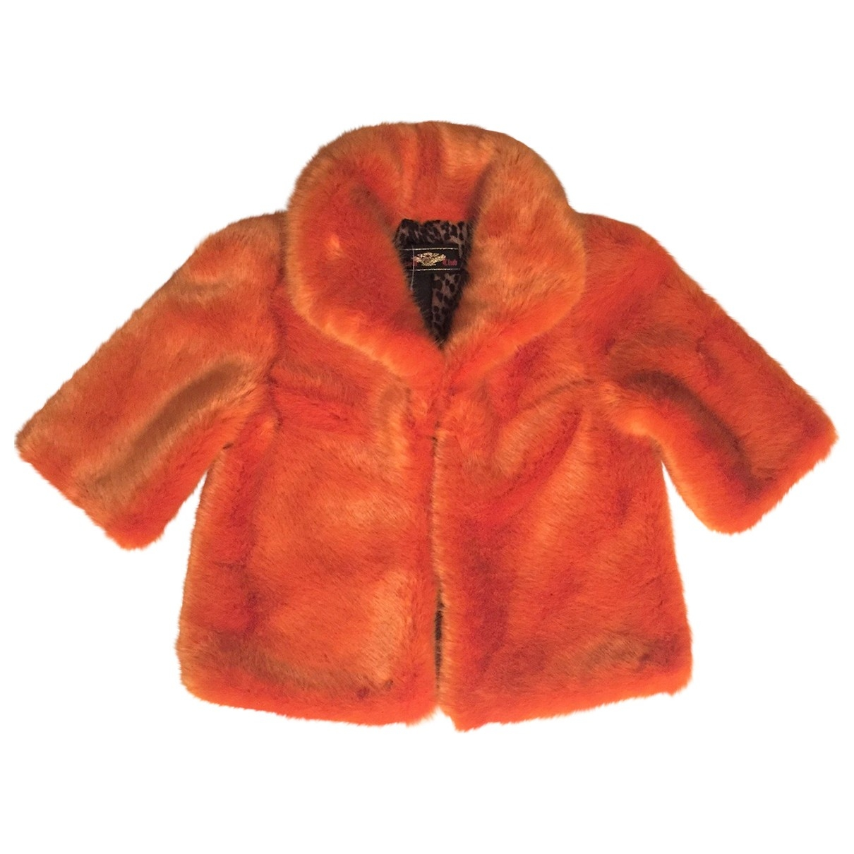 Non Signé / Unsigned \N Orange Faux fur coat for Women 38 FR