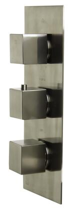 AB2901-BN Concealed 4-Way Thermostatic Valve Shower Mixer with  Square Knobs  Brass  A Sleek Appearance  UPC Certification  User-Friendly