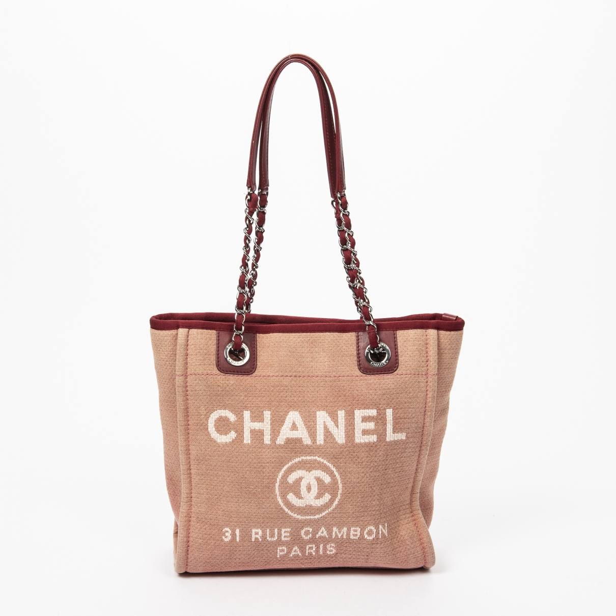 Chanel Deauville Pink Leather handbag for Women \N