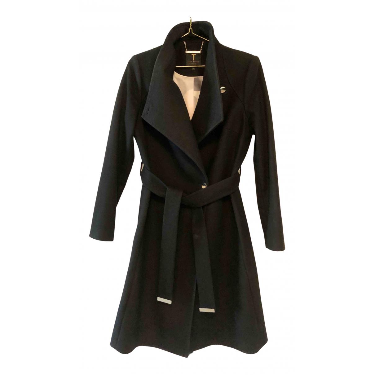 Ted Baker - Manteau   pour femme en laine - noir