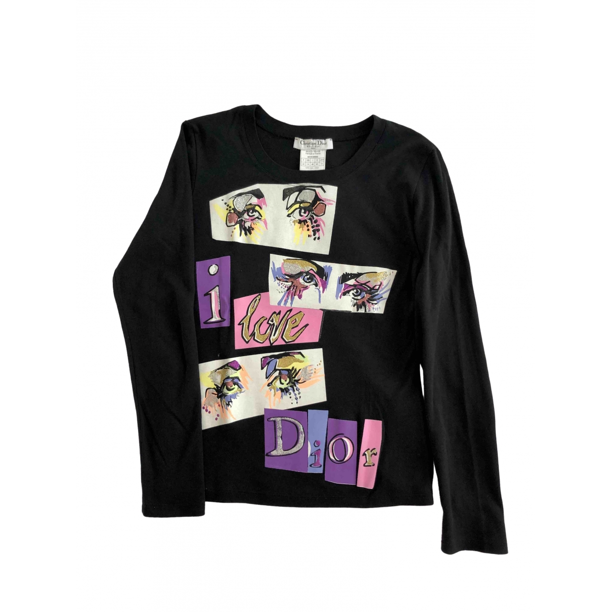 Dior \N Black Cotton  top for Women 42 FR